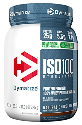 Shop Dymatize  Natural ISO-100, Natural Chocolate, 1.6 Pound online  sports-nutrition-whey-protein-isolate-powders
