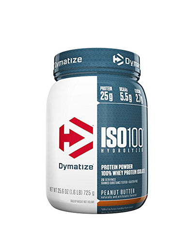 Shop Dymatize Iso-100, Peanut Butter, 1.6 Pound online  sports-nutrition-whey-protein-isolate-powders