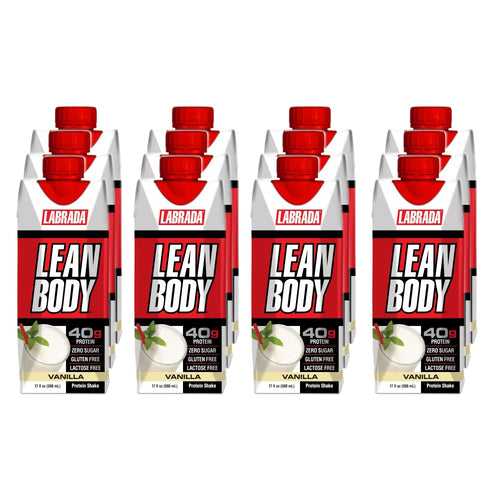 Shop Labrada Nutrition Lean Body RTD, Vanilla, 12 x 17 Fluid Ounce online  sports-nutrition-protein-powder-blends
