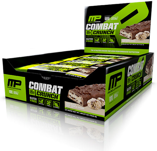 Shop MusclePharm Combat Crunch, Chocolate Chip Cookie Dough, 12 Count online  sports-nutrition-protein-bars