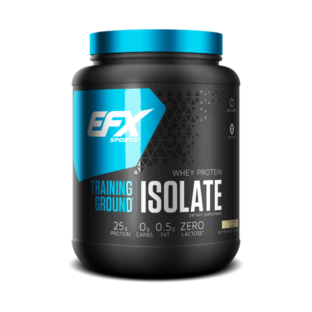 Shop EFX Sports Training Ground Isolate, Ice Cream Vanilla, 1.5 Pound online  sports-nutrition-whey-protein-isolate-powders