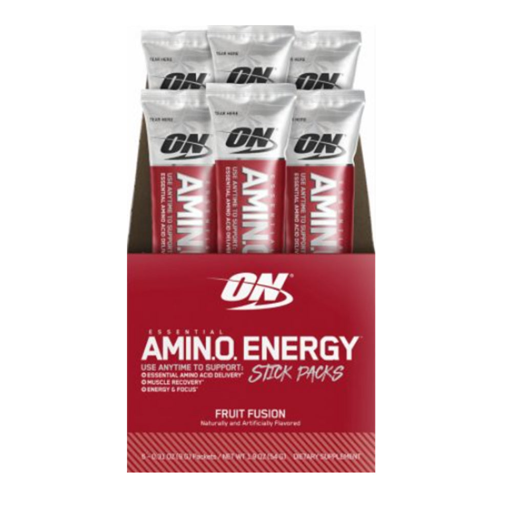 Shop Optimum Nutrition Amino Energy, Fruit Fusion, 6 Packet online  sports-nutrition-endurance-and-energy-supplements