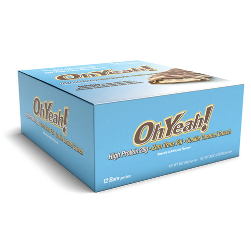 Shop ISS OhYeah! OhYeah! Bar, Cookie Caramel Crunch, 12 x 3 oz Bars online  sports-nutrition-protein-bars