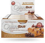 Shop Quest Nutrition Quest Bar, Chocolate Chip Cookie Dough, 12 Count online  sports-nutrition-protein-bars