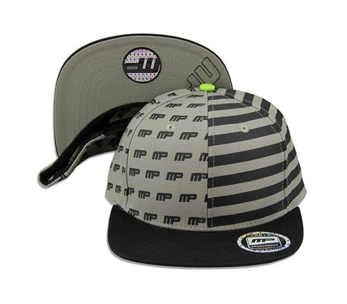 Shop Musclepharm Sports Wear Hat, Grey With Black Strips/Logo (Pack of 1) online  sports-fans-baseball-caps
