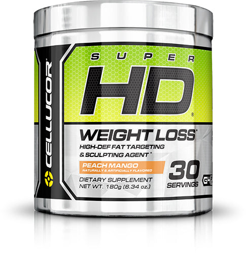 Shop Cellucor Super HD Powder, Peach Mango, 30 Serving online  fat-burner-weight-loss-supplements