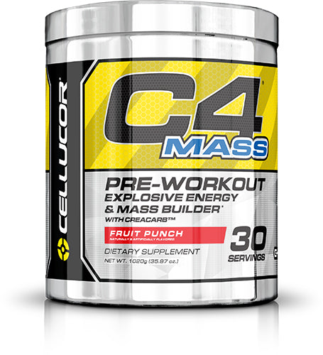Shop Cellucor C4 Mass, Fruit Punch, 30 Serving online  sports-nutrition-pre-workout-powders