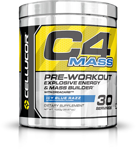 Shop Cellucor C4 Mass, Blue Razz, 30 Serving online  sports-nutrition-pre-workout-powders