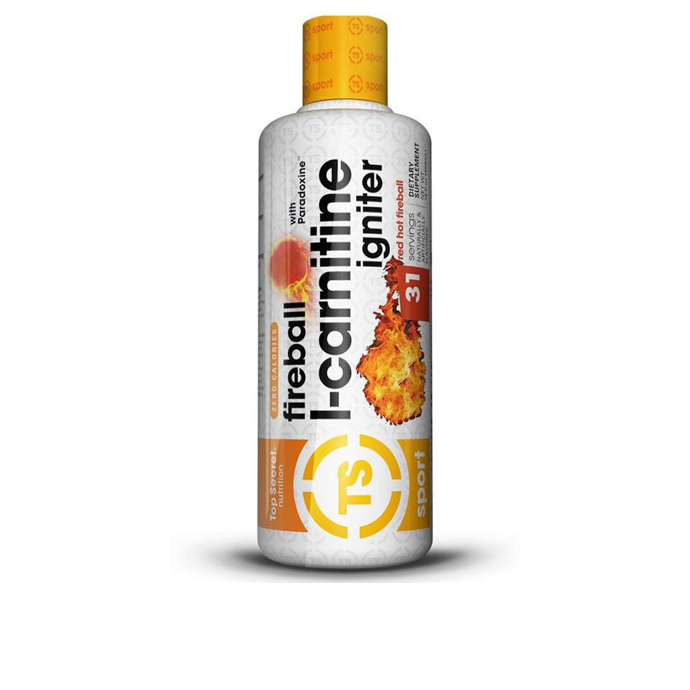 Shop Top Secret Nutrition Fireball L-Carnitine Liquid w/Paradoxine, Red Hot Fireball, 16 Ounce online  branched-chain-amino-acids-nutritional-supplements