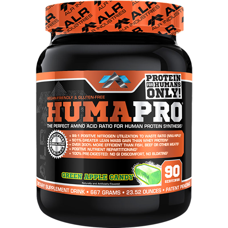 Shop ALR Industries HumaPro Powder, Green Apple Candy, 667 Gram online  sports-nutrition-protein-powder-blends