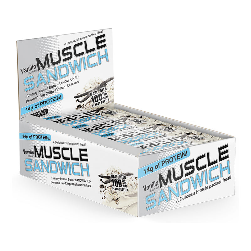 Shop Muscle Sandwich Muscle Sandwich Peanut Butter Vanilla, 12 Count online  sports-nutrition-cookies-and-brownies