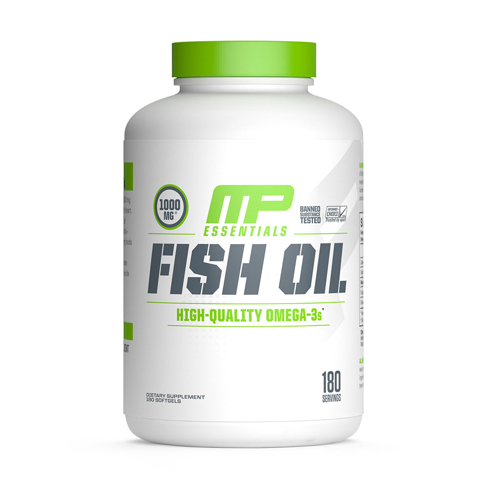 Shop MusclePharm Essentials Fish Oil, 180 Softgel online  fish-oil-nutritional-supplements