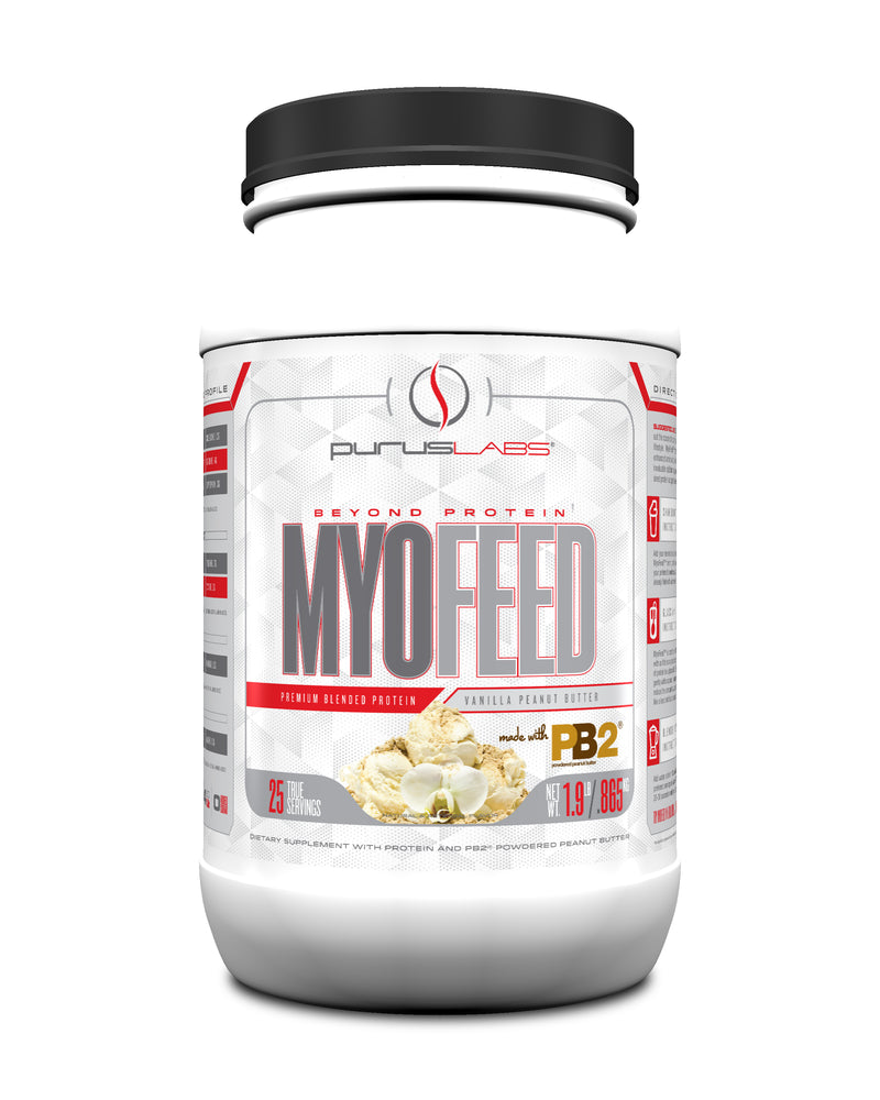 Shop Purus Labs MyoFeed, 2 Pound, Vanilla Peanut Butter (w/ PB2) online  sports-nutrition-protein-powder-blends