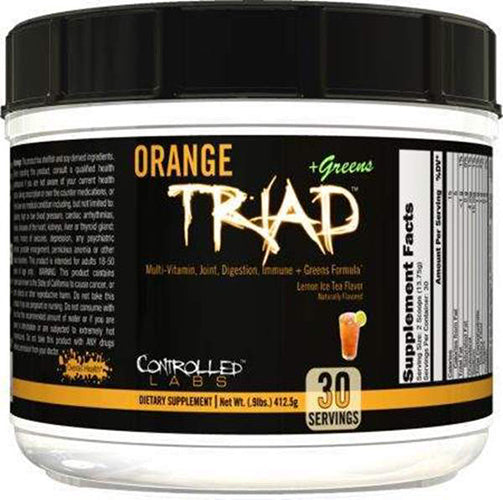 Shop Controlled Labs Orange Triad + Greens, Lemon Ice Tea, 30 Serving online  multivitamins