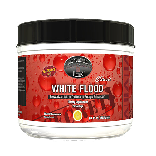 Shop Controlled Labs White Flood Classic, Electric Lemonade, 25 Serving online  sports-nutrition-pre-workout-supplements