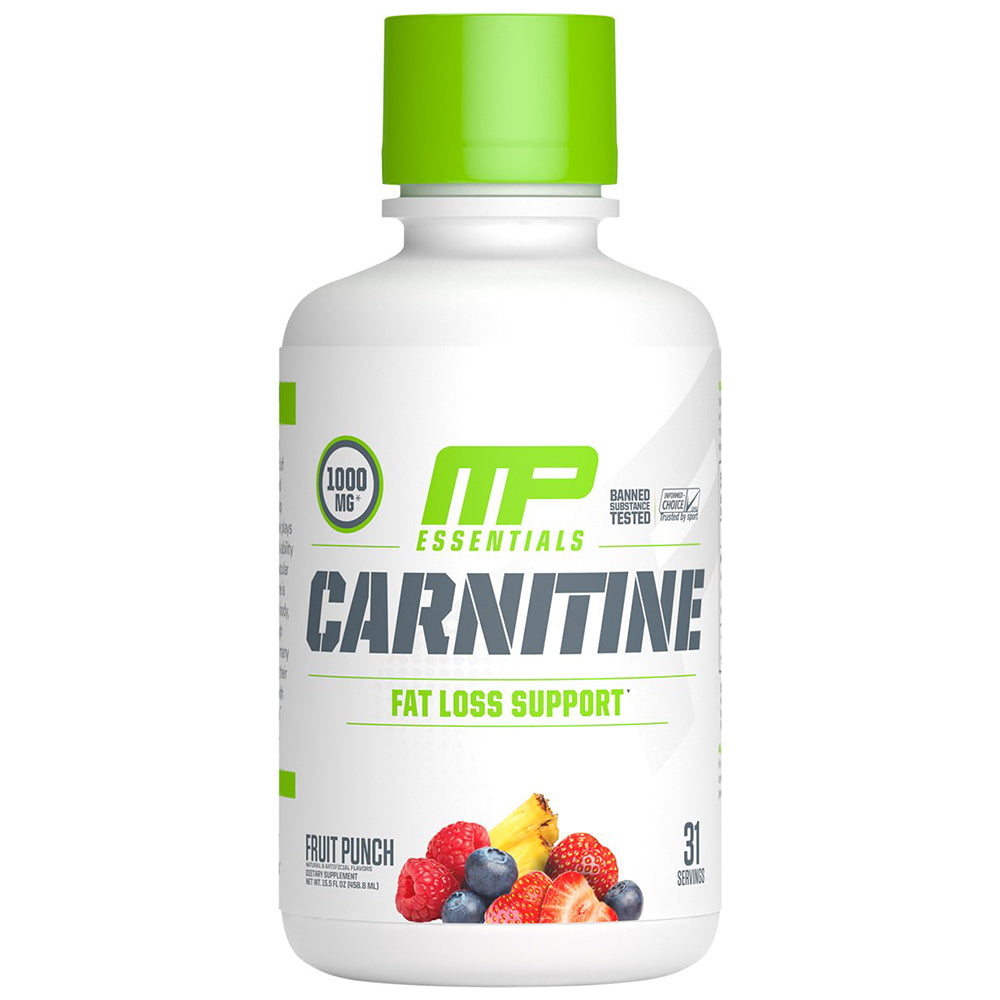 Shop MusclePharm Essentials Carnitine, Fruit Punch, 31 Serving online  branched-chain-amino-acids-nutritional-supplements