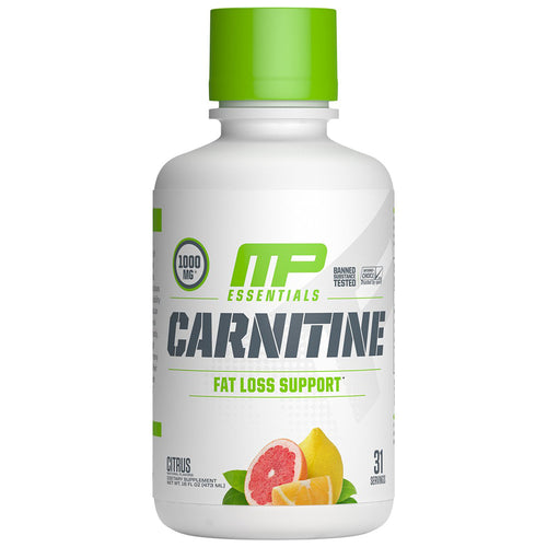 Shop MusclePharm Essentials Carnitine, Citrus, 31 Serving online  branched-chain-amino-acids-nutritional-supplements