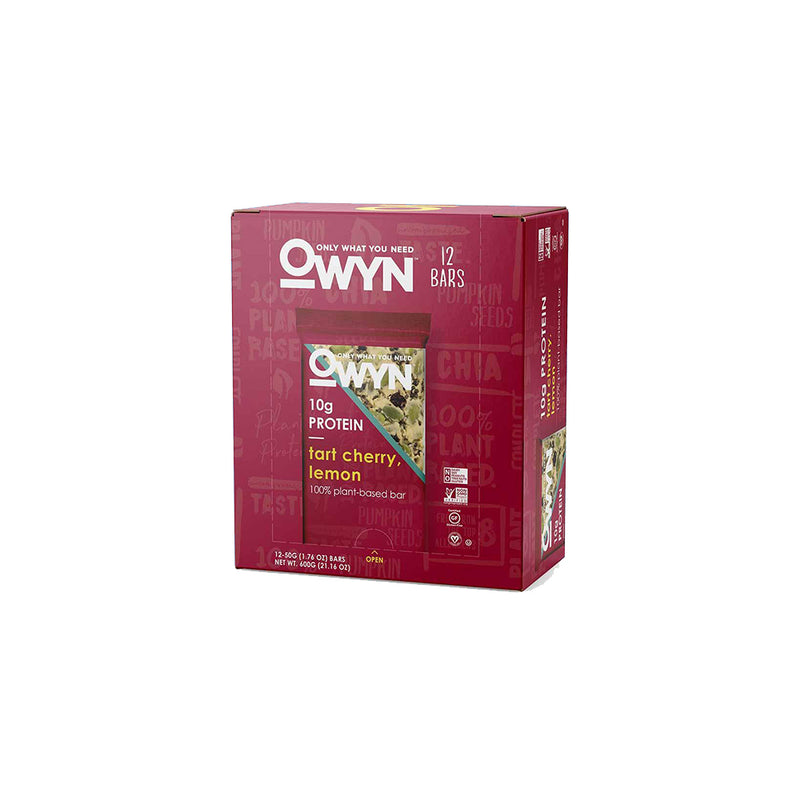 Shop Only What You Need OWYN Protein Bar, Tart Cherry Lemon, 12 Count online  sports-nutrition-protein-bars