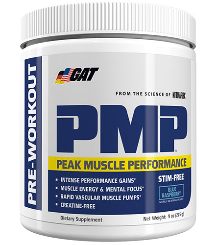 Shop GAT Sport PMP Stim-Free, Blue Raspberry, 30 Serving online  sports-nutrition-pre-workout-powders