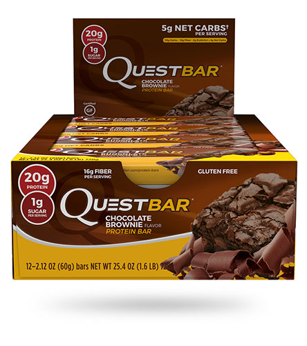 Shop Quest Nutrition Quest Bar, Chocolate Brownie, 12 Count online  sports-nutrition-protein-bars
