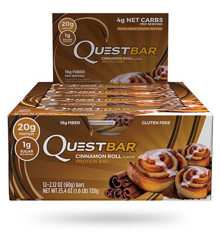 Shop Quest Nutrition Quest Bar, Cinnamon Roll, 12 Count online  sports-nutrition-protein-bars