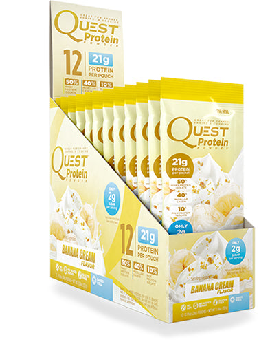 Shop Quest Nutrition Quest Protein Powder, Banana Cream, 12 Packet online  sports-nutrition-whey-protein-powders