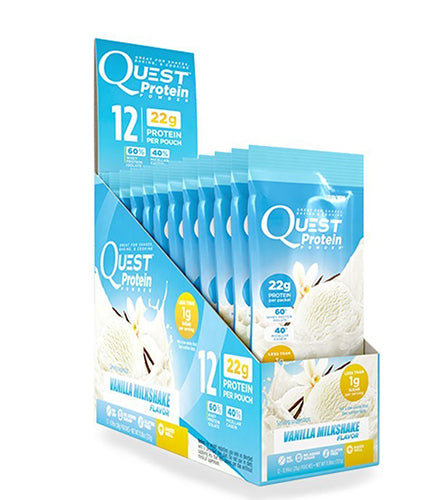 Shop Quest Nutrition Quest Protein Powder, Vanilla Milkshake, 12 Packet online  sports-nutrition-whey-protein-powders