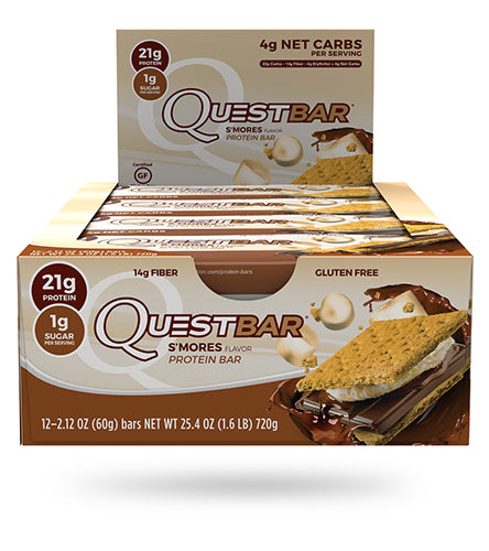 Shop Quest Nutrition Quest Bar, S'mores, 12 Count online  sports-nutrition-protein-bars