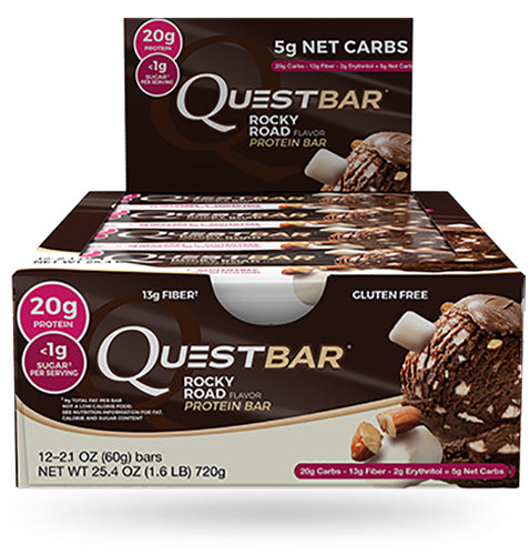 Shop Quest Nutrition Quest Bar, Rocky Road, 12 Count online  sports-nutrition-protein-bars