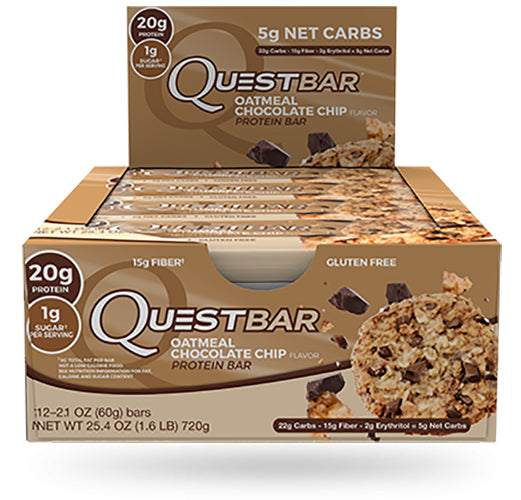 Shop Quest Nutrition Quest Bar, Oatmeal Chocolate Chip, 12 Count online  sports-nutrition-protein-bars