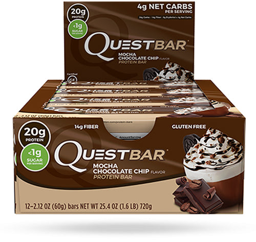 Shop Quest Nutrition Quest Bar, Mocha Chocolate Chip, 12 Count online  sports-nutrition-protein-bars