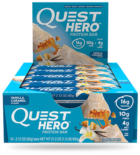 Shop Quest Nutrition Hero Bar, Vanilla Caramel, 10 Count online  sports-nutrition-protein-bars