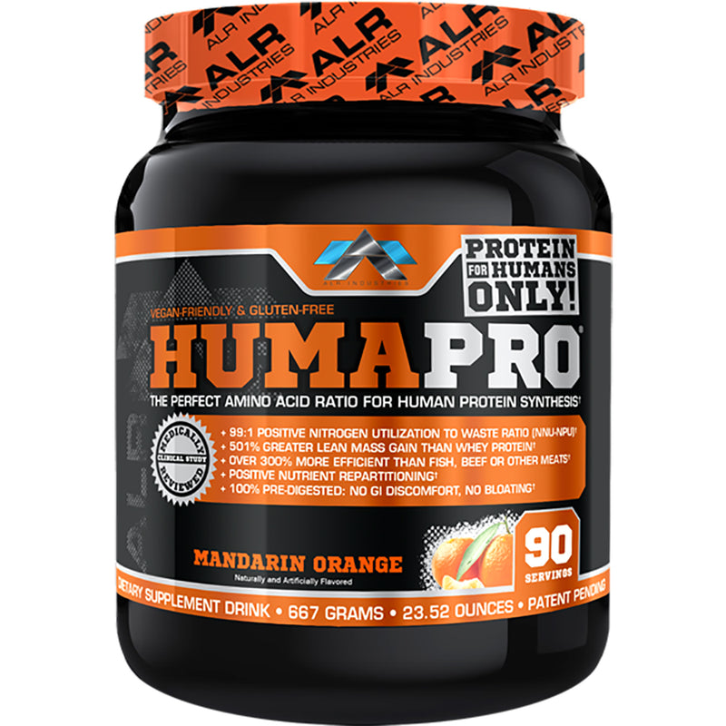 Shop ALR Industries HumaPro Powder, Mandarin Orange, 667 Gram online  sports-nutrition-protein-powder-blends