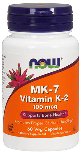Shop NOW Foods MK-7 Vitamin K-2 100 mcg, 60 Vegetable Capsule online  vitamin-k2