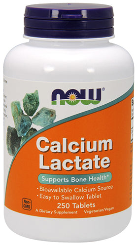 Shop NOW Foods Calcium Lactate, 250 Tablet online  calcium-ascorbate-vitamins