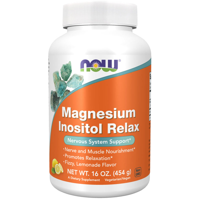Shop NOW Foods Magnesium Inositol Relax, Fizzy Lemonade, 16 Ounce (RH) online  magnesium-mineral-supplements