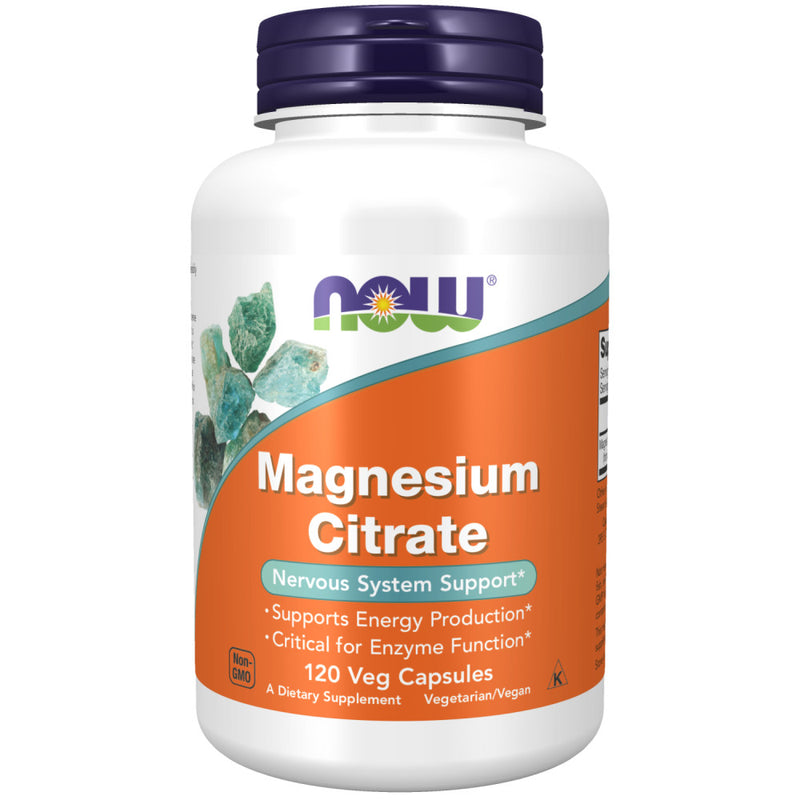 Shop NOW Foods Magnesium Citrate, 120 Vegetable Capsule (RH) online  magnesium-mineral-supplements