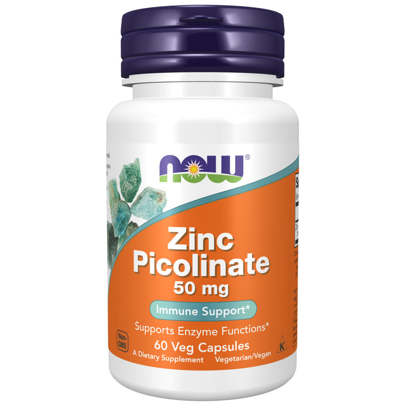 Shop NOW Foods Supplements, Zinc Picolinate 50 mg, 60 Vegetable Capsule (Pack of 1) RH) online  zinc-mineral-supplements
