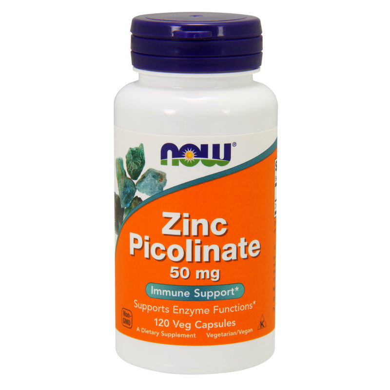 Shop NOW Foods Zinc Picolinate 50mg, 120 Vegetable Capsule (RH) online  zinc-mineral-supplements