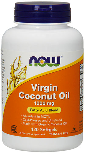 Shop NOW Foods Virgin Coconut Oil 1000 mg, 120 Softgel online  vitamins