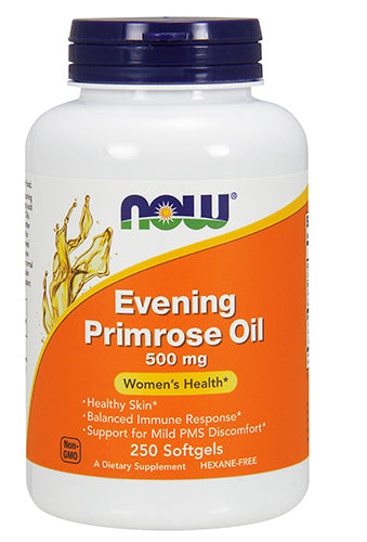 Shop NOW Foods Evening Primrose Oil 500 mg, 250 Softgel online  evening-primrose-herbal-supplements