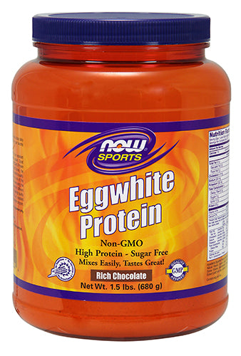 Shop NOW Foods EggWhite Protein, Chocolate, 1.5 Pound online  sports-nutrition-protein-powders