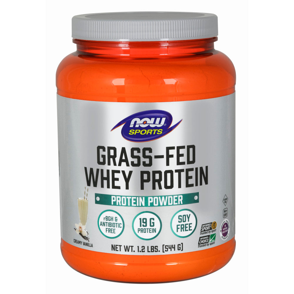 Shop NOW Foods Grass-Fed Whey Protien Concentrate, Creamy Vanilla, 1.2 Pound (RH) online  sports-nutrition-whey-protein-powders