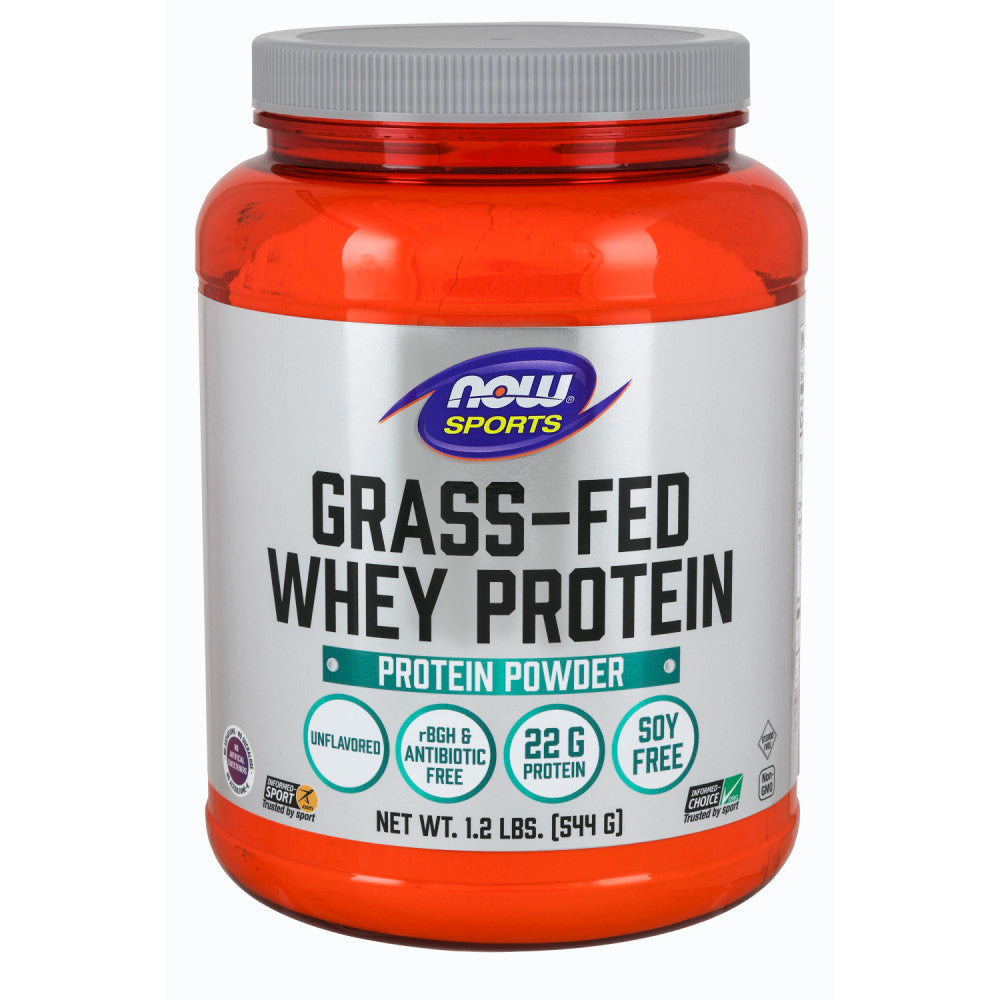 Shop NOW Foods Grass-Fed Whey Protein Concentrate, Natural Unflavored, 1.2 Pound (RH) online  sports-nutrition-whey-protein-powders