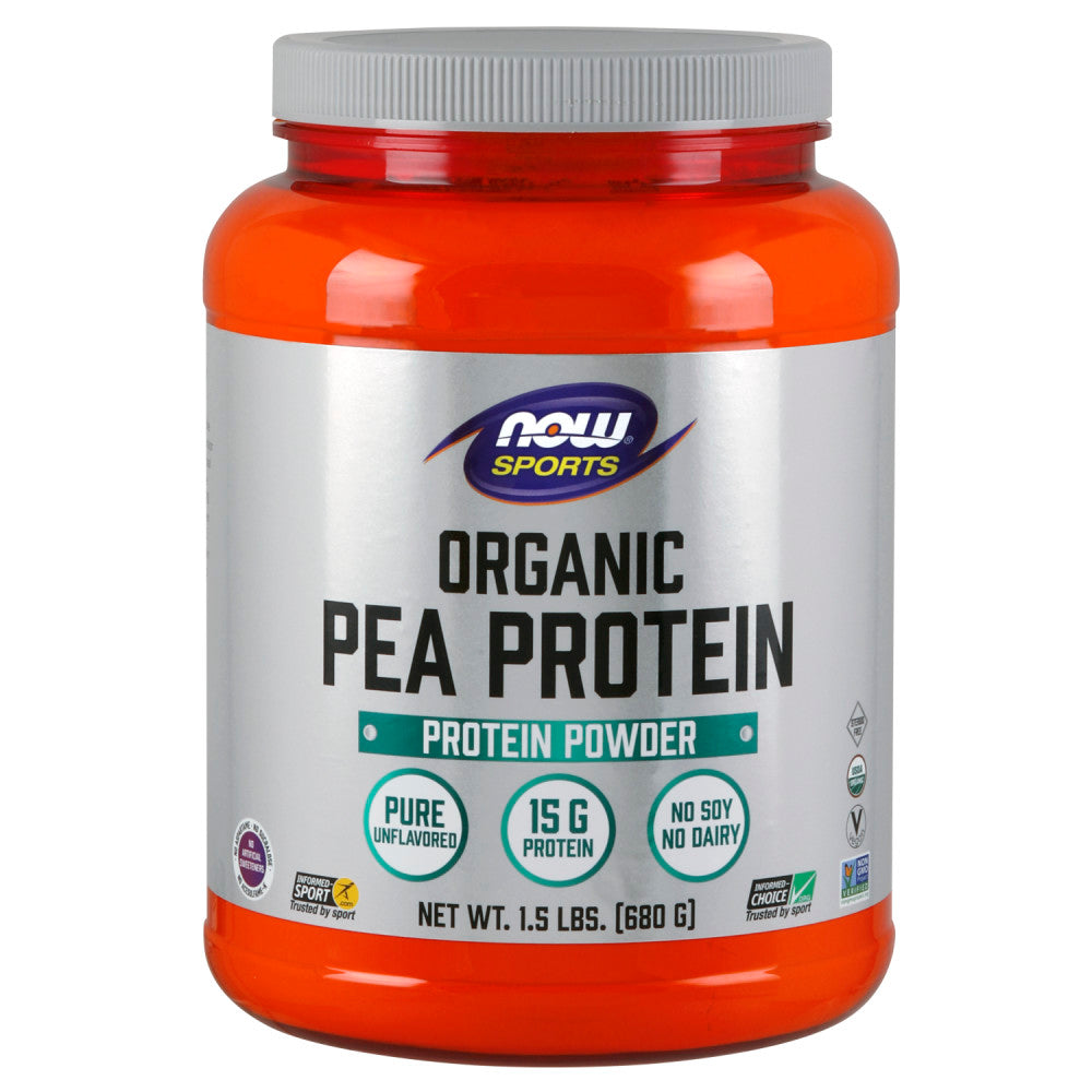 Shop NOW Foods Organic Pea Protein, Natural Unflavored, 1.5 Pound (RH) online  sports-nutrition-pea-protein-powders