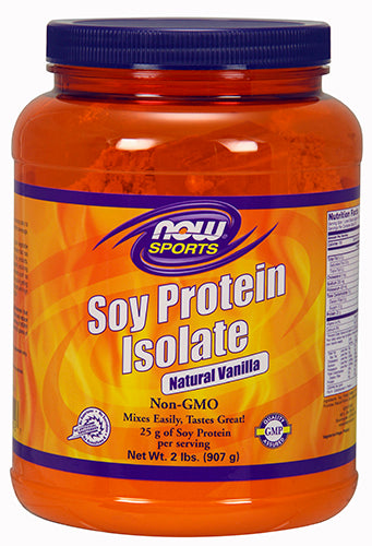 Shop NOW Foods Soy Protein Isolate, Natural Vanilla, 2 Pound online  sports-nutrition-protein-powders