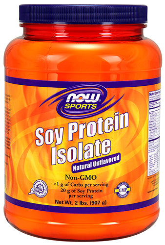Shop NOW Foods Soy Protein Isolate, Non-GMO Unflavored, 2 Pound online  sports-nutrition-protein-powders