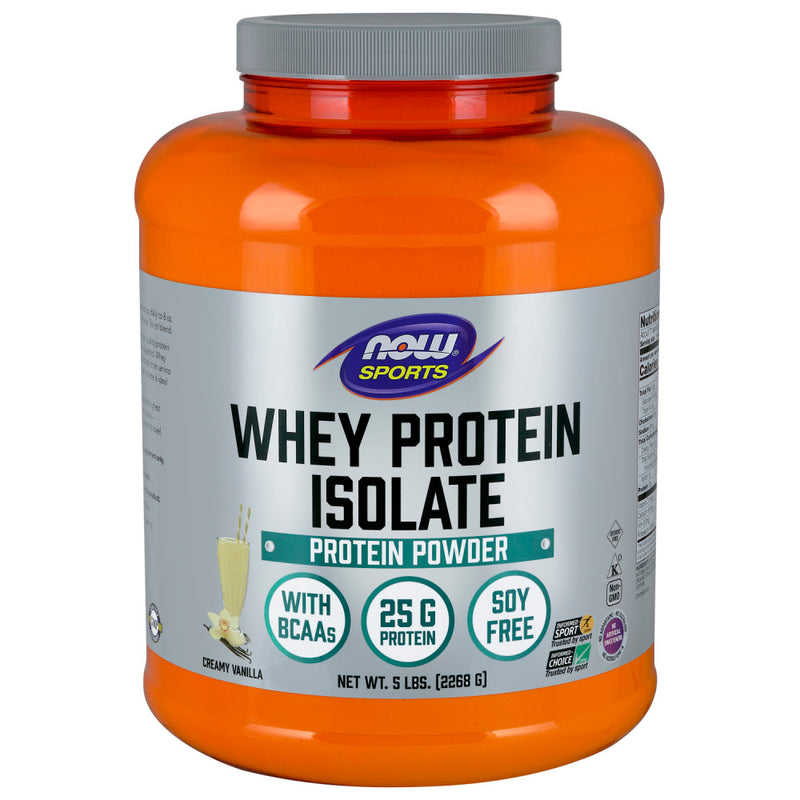 Shop NOW Foods Whey Protein Isolate, Natural Vanilla, 5 Pound (RH) online  sports-nutrition-whey-protein-powders