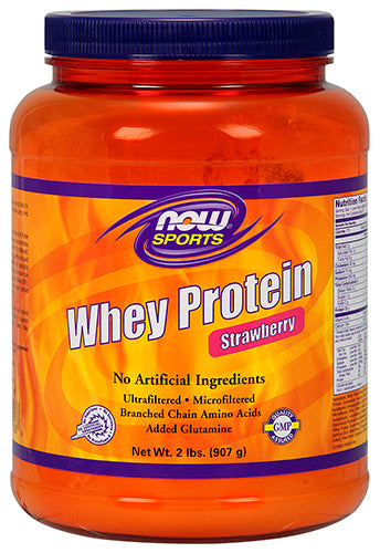 Shop NOW Foods Whey Protein, Strawberry, 2 Pound online  sports-nutrition-whey-protein-powders