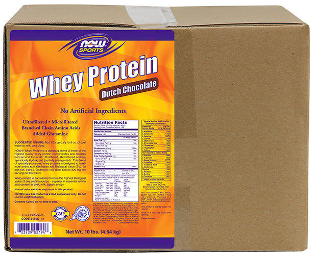 Shop NOW Foods Whey Protein, Dutch Chocolate, 10 Pound online  sports-nutrition-whey-protein-powders